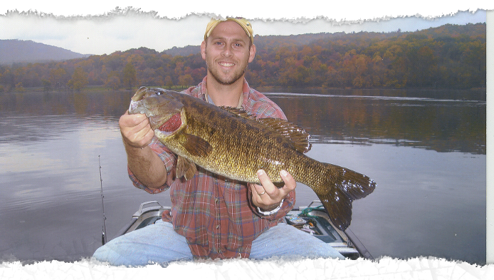 Fishing guides smallmouth bass guides new river radford for Fishing trips in virginia